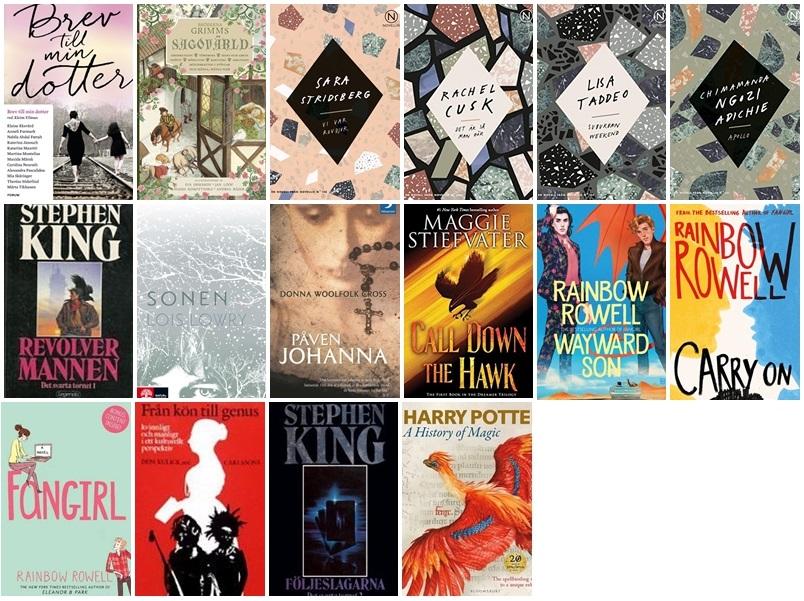Bilder på de 16 böcker jag har läst i november (listas även nedan)