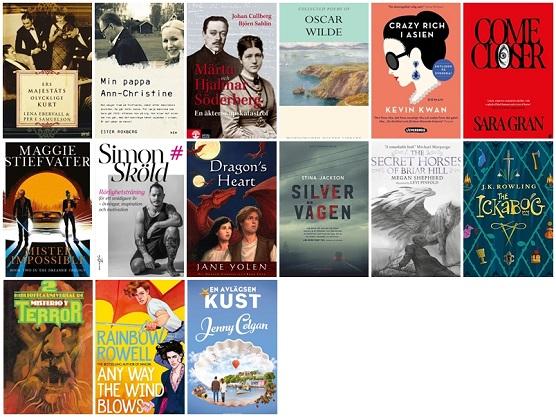 De femton böcker jag har läst i augusti.